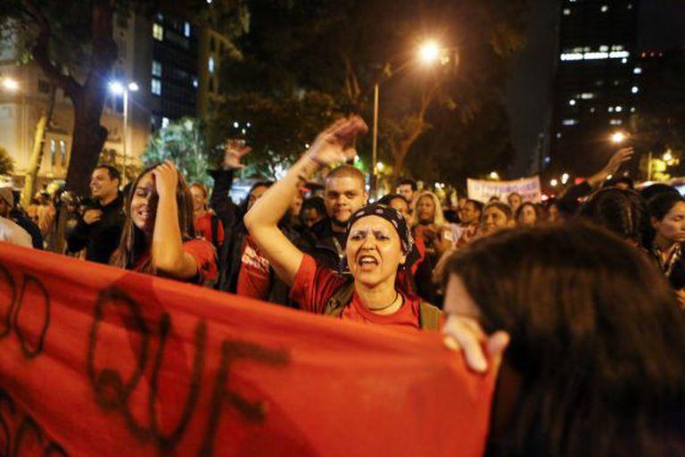 Protesto no Rio de Janeiro nesta sexta-feira.