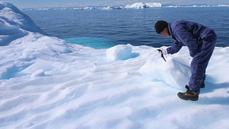 Glaciar de Jakobshavn, em Ilulissat (Groenlândia).