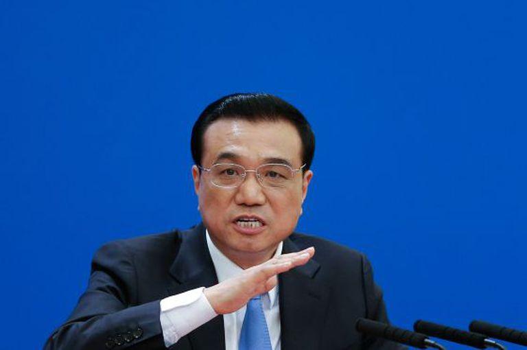 O primeiro-ministro chinês, Li Keqiang, neste domingo em Pequim.