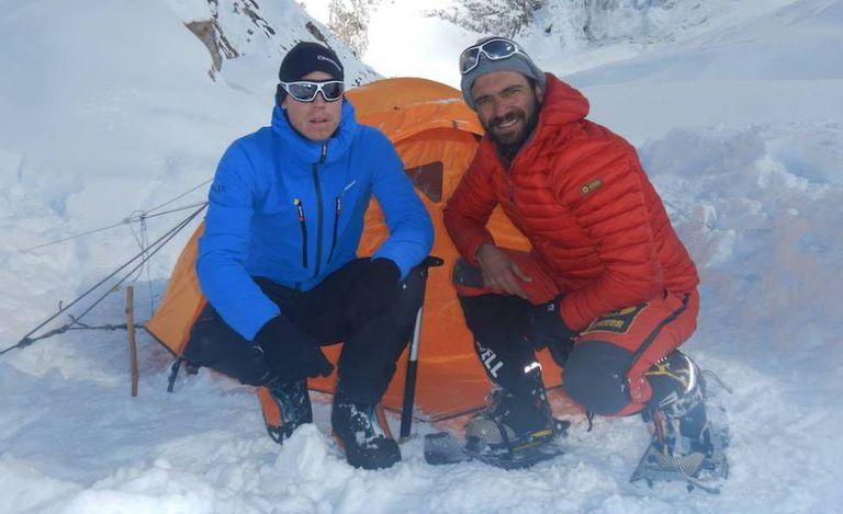 Tom Ballard (esq.) e Daniele Nardi, na montanha Nanga Parbat.
