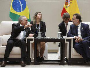 Temer e Rajoy, em encontro bilateral em 2016 na China, durante uma reunião do G-20.