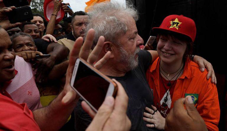 Lula em ato no Rio de Janeiro.