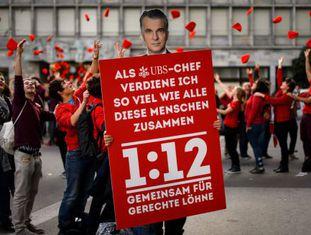 Ato em favor da iniciativa 1:12 em Zurich