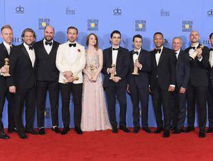 A equipe de 'La La Land', com sete estatuetas.