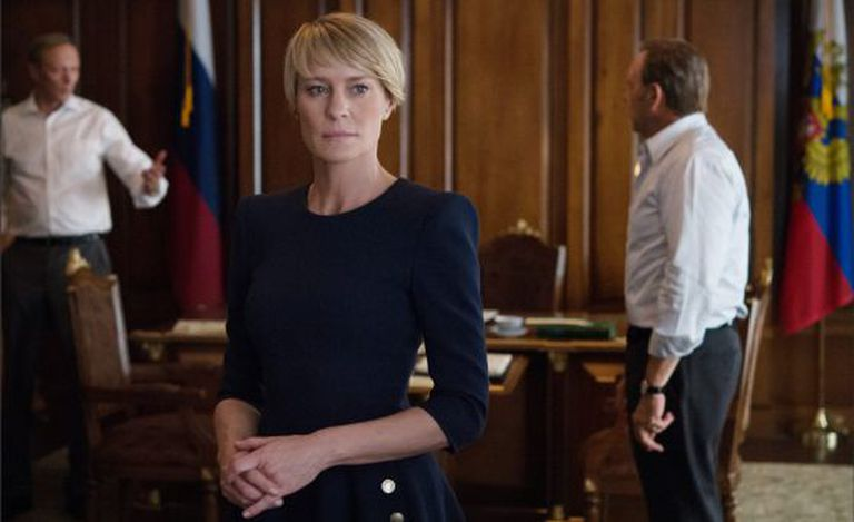 Robin Wright, como Claire Underwood, em 'House of cards'.