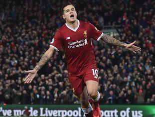Philippe Coutinho em um jogo pelo Liverpool