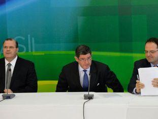 A equipe econômica no dia de seu anúncio, com Barbosa à direita.