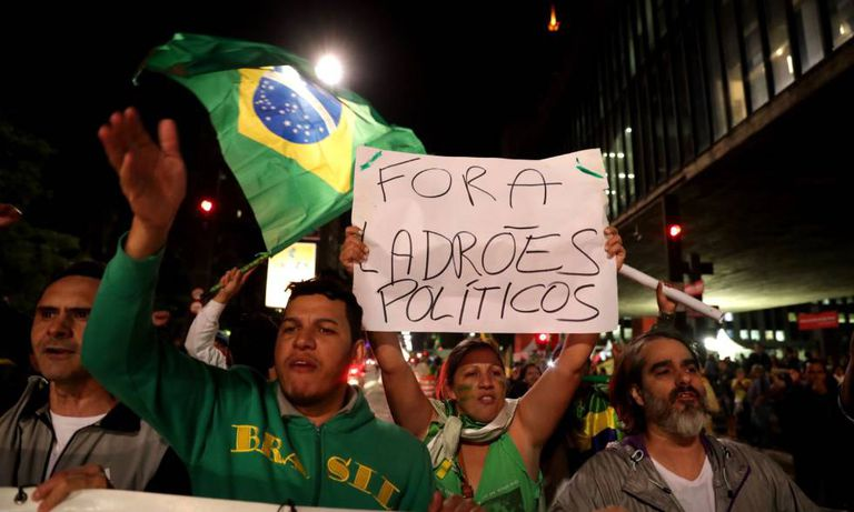 Protesto a favor dos caminhoneiros em São Paulo, semana passada.