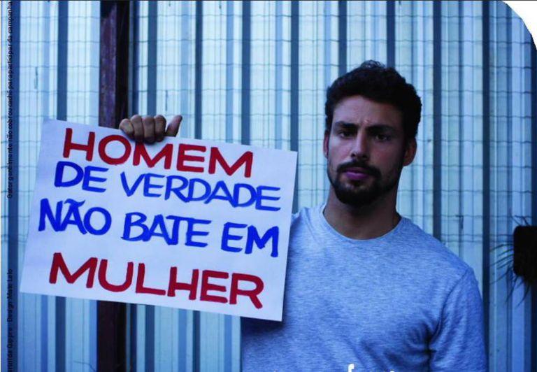 Cauã, que participou de campanha contra violência contra a mulher.