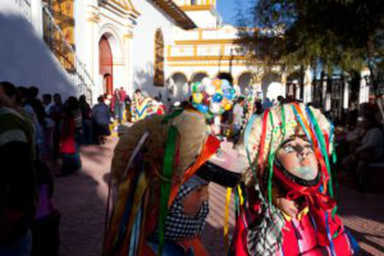 San Cristóbal de las Casas, em Chiapas (México), durante as festas de Guadalupe.