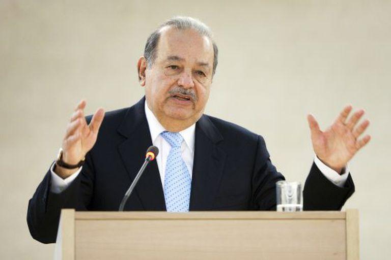 O magnata mexicano Carlos Slim, em Gênova, em 2012.