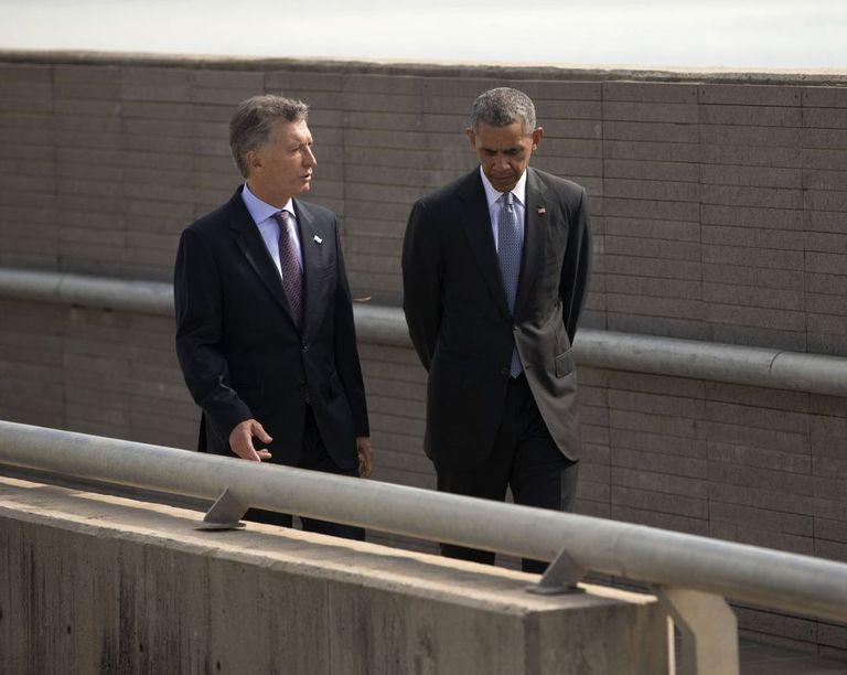 Obama e Macri, nesta quinta-feira na Argentina.