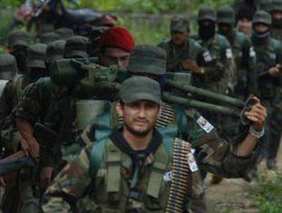 Miembros de las FARC em Colombia.