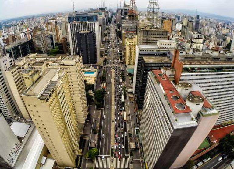 Vista aérea da avenida Paulista.