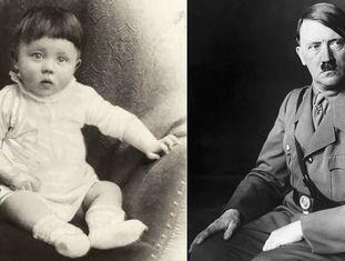 À esquerda, Adolf Hitler em 1889. À direita, retratado em uma data indeterminada dos anos trinta do século passado.