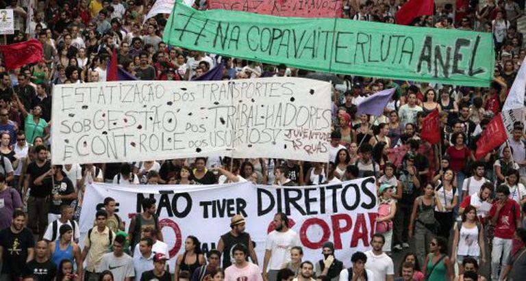 Manifestantes no Rio, em 2013.