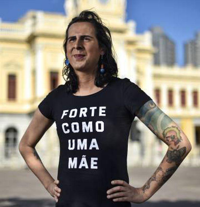 Duda Salabert, na praça da Estação, em Belo Horizonte.