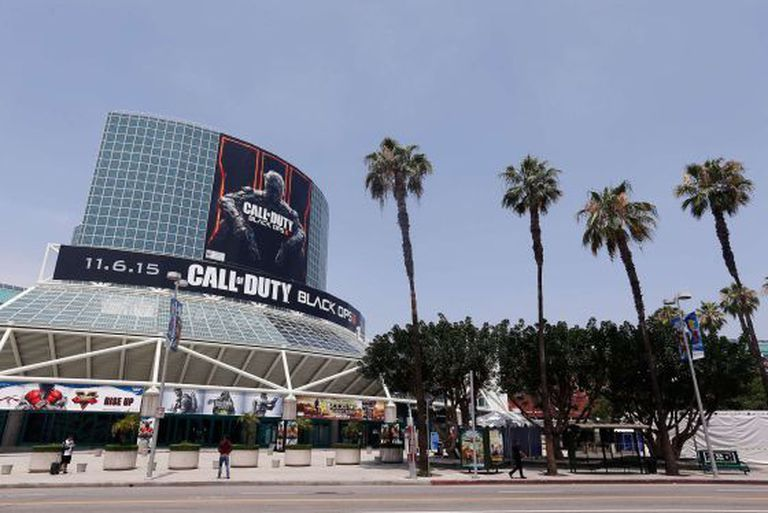 O centro de convenções de Los Angeles prepara-se para E3.