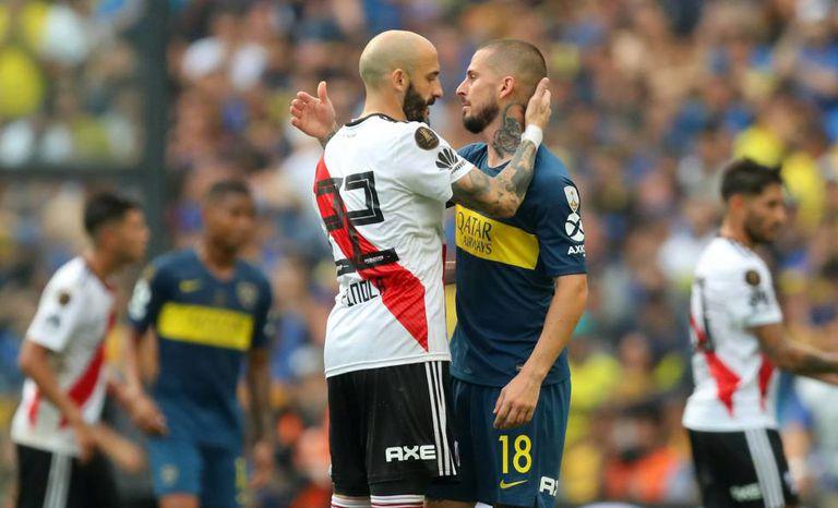Piniola e Benedetto, depois da partida.