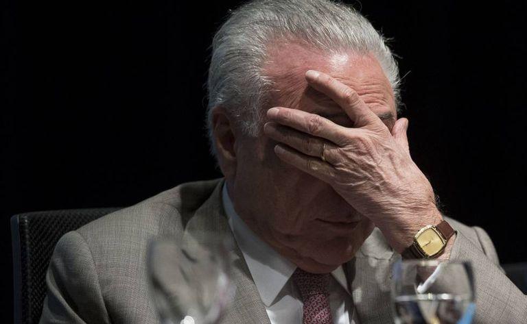 Temer em evento no Rio nesta segunda-feira.