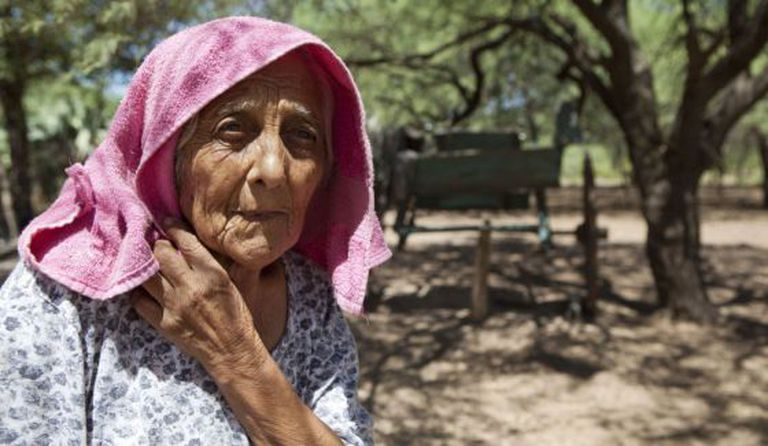 Uma idosa na província de Córdoba (Argentina).