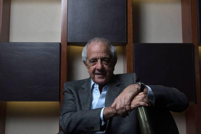 Rodolfo D'Onofrio, presidente do River, em um hotel de Madri.