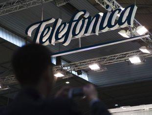 O stand da Telefónica no MWC 2014, em Barcelona.