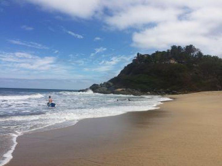 A praia de San Pancho, onde McDermott costumava correr, segundo os habitantes locais.