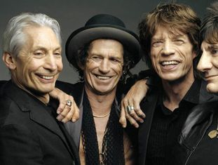 Charlie Watts, Keith Richards, Mick Jagger e Ron Wood.