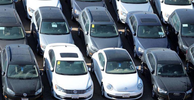 Veículos da Volkswagen na Califórnia.