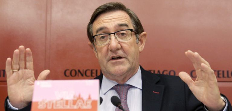 O ex-prefeito de Santiago de Compostela, Ángel Currás, na semana passada.