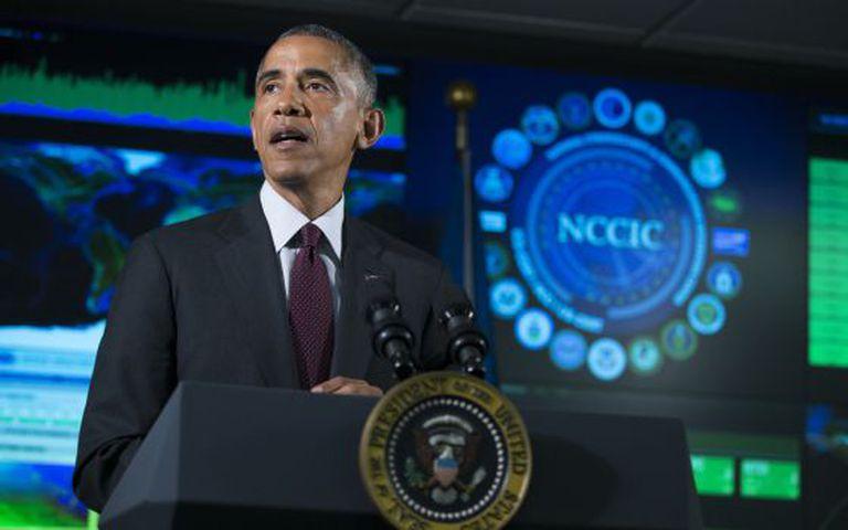 Obama em seu discurso sobre segurança cibernética.