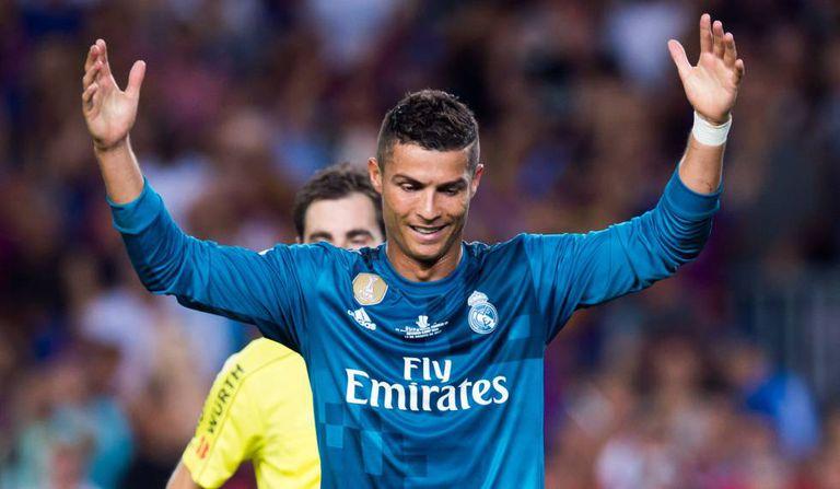 Cristiano Ronaldo depois de ser expulso no jogo contra o Barcelona.