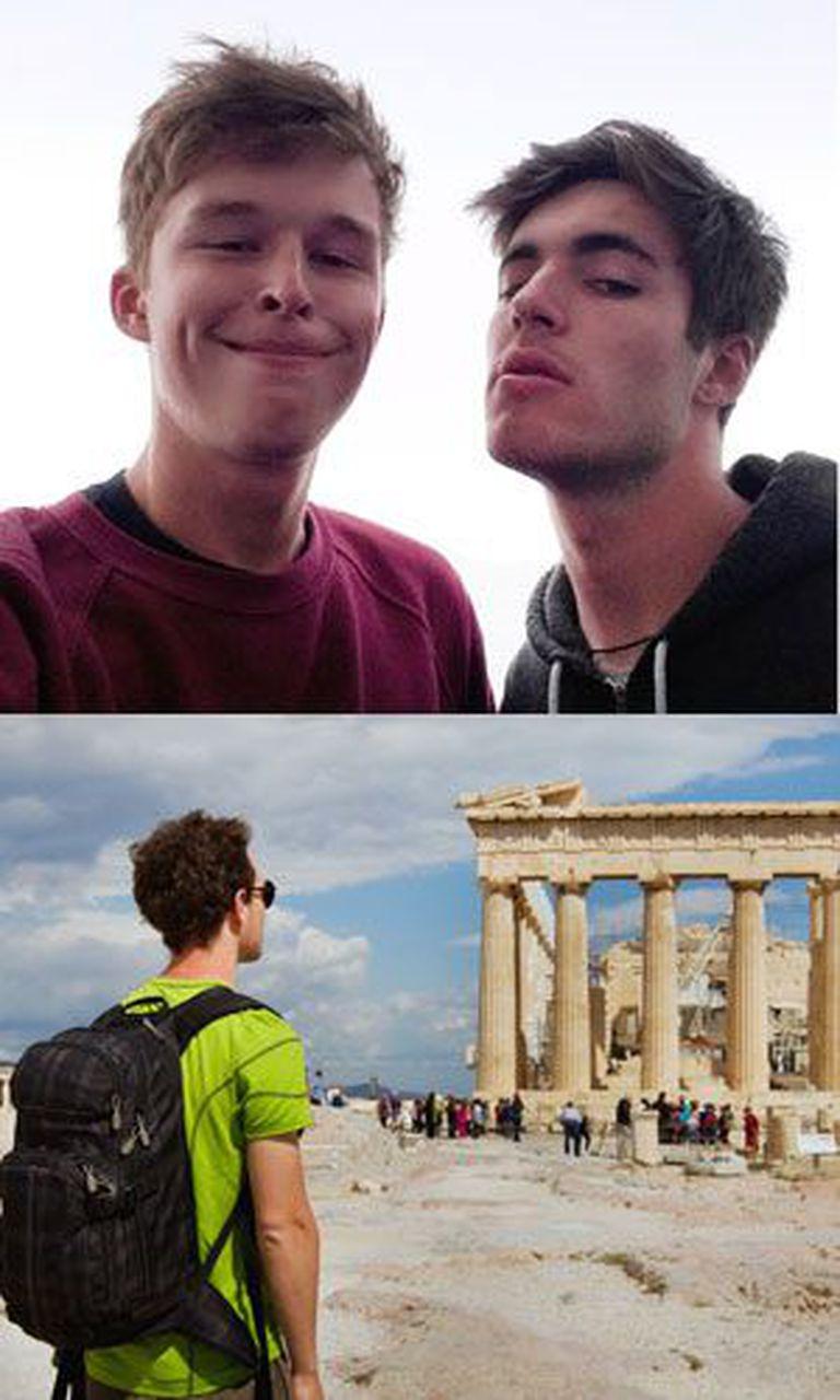 Os britânicos Tom e James.