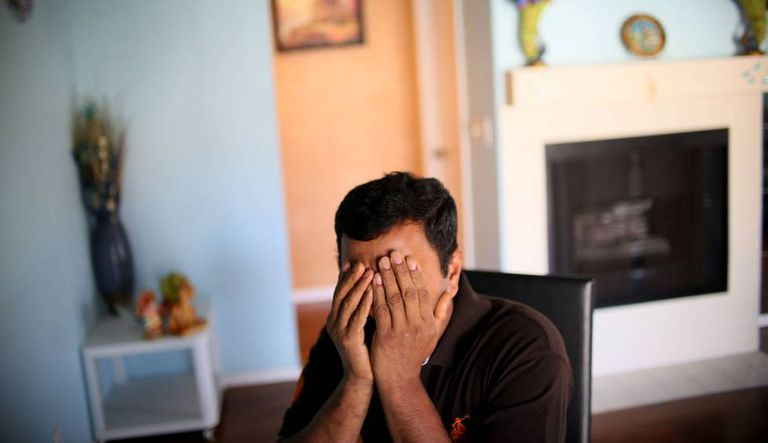 Um imigrante do Sri Lanka, em sua casa em San Diego.