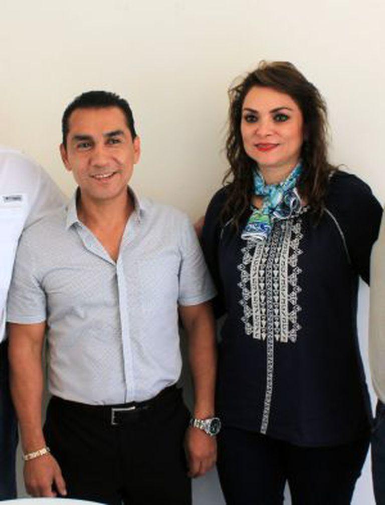 José Luis Abarca e sua mulher, María de Los Ángeles Pineda, no dia 3 de julho de 2014.
