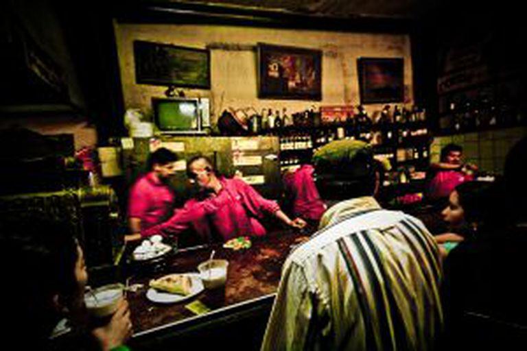 La Piojera, um conhecido bar de Santiago.