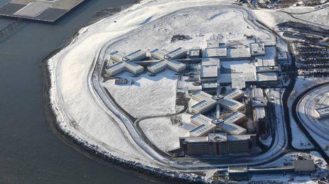 O cárcere de Rikers Island em Nova York nevada