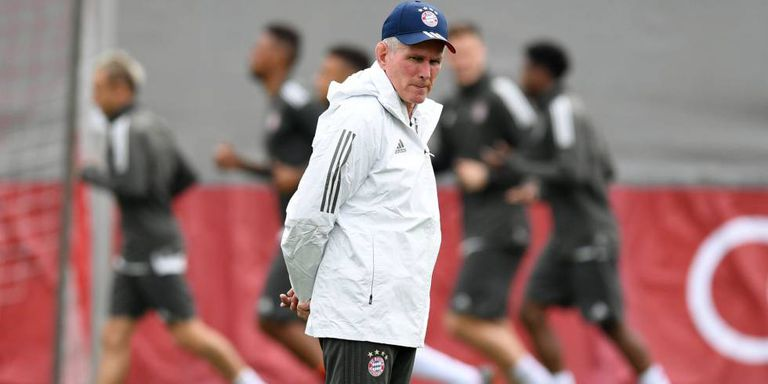 Heynckes, durante um treinamento do Bayern.