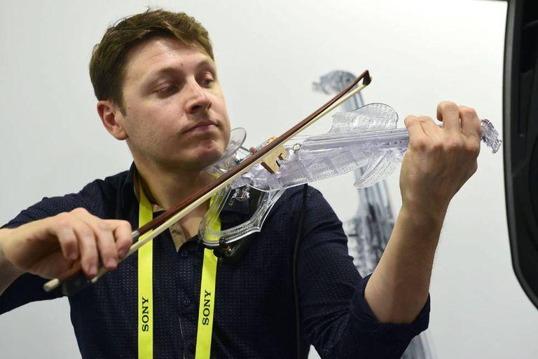 Demonstração do violino elétrico 3Dvarius
