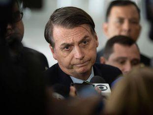 O presidente Bolsonaro nesta terça, em Brasília.