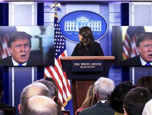 Trump participa à distancia de uma entrevista coletiva
