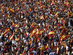 Manifestação em prol da unidade da Espanha
