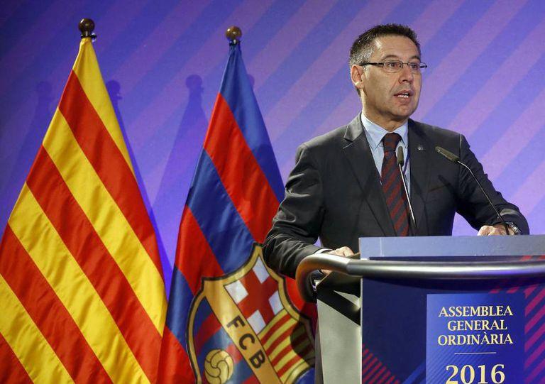 O presidente do Barça, Josep Maria Bartomeu.