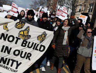 Manifestantes em Washington.