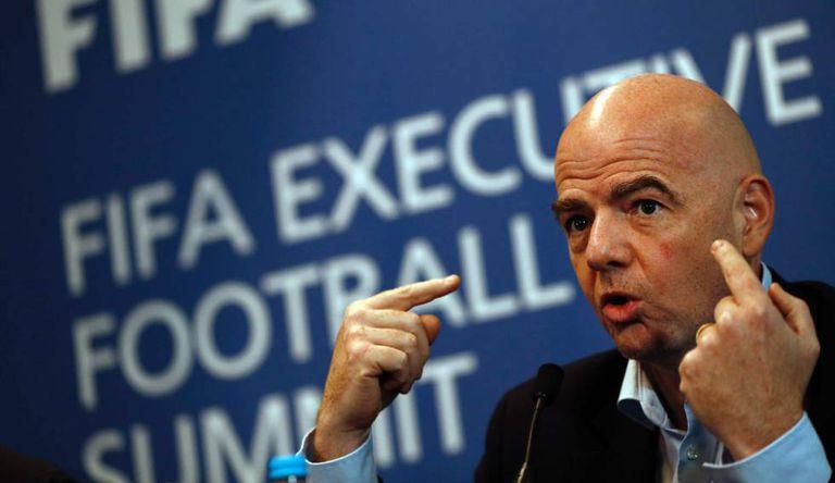 Infantino na reunião do Comitê Executivo da FIFA.