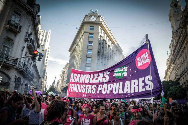 Protestos pró legalização do aborto em Buenos Aires.