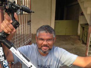 Roberson Miguel, cicolativista da zona norte de São Paulo.