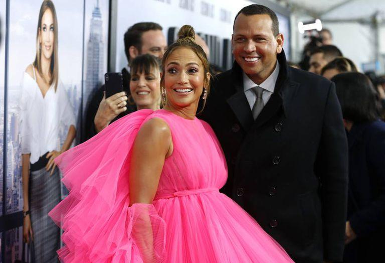 Jennifer Lopez e Alex Rodriguez na estreia de 'Second Act', em 12 de dezembro de 2018 em Nova York.