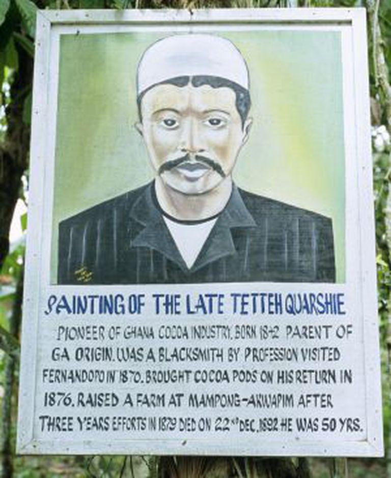 A plantação de cacau Tetteh Quarshie, fundada em Mampong em 1876, é a mais antiga de Ghana.